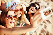 stock photo of sunny beach  - summer holidays - JPG
