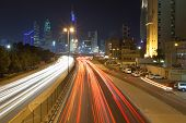 picture of kuwait  - Traffic in the city of Kuwait at night Middle East - JPG