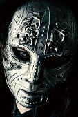 pic of mystery  - Portrait of a mysterious man in iron mask - JPG
