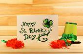 picture of leprechaun hat  - Greeting card for Saint Patrick - JPG