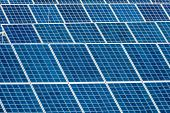 foto of environmentally friendly  - panels a solar power plant - JPG