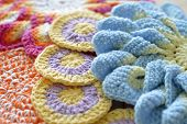 image of doilies  - Crochet colored yarn knitted doily beautiful decoration for the home - JPG