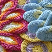 picture of doilies  - Crochet colored yarn knitted doily beautiful decoration for the home - JPG