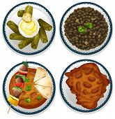 pic of indian food  - Four dishes of indian food - JPG