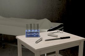stock photo of autopsy  - 3d rendering of some elements for an autopsy - JPG