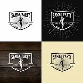 stock photo of samba  - Samba party badges logos and labels - JPG