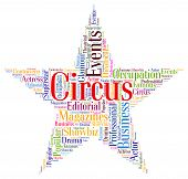 pic of clowns  - Circus Star Represents Three Ring And Clown - JPG
