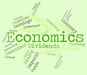 foto of economizer  - Economics Word Representing Monetary Finance And Text - JPG