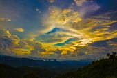 image of fascinator  - Mountains and cloudy skies calming colors supremely fascinating - JPG