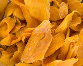 foto of mango  - mango dry or dried mango slices on background - JPG