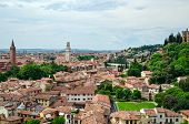 stock photo of juliet  - Verona panorama from the hill  - JPG