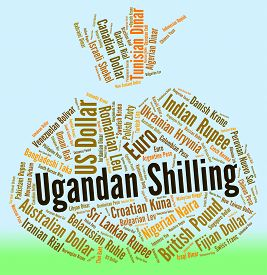 picture of shilling  - Ugandan Shilling Representing Foreign Currency And Fx - JPG