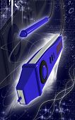 stock photo of mater  - Digital illustration of digital multi mater  in colour background - JPG