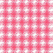 pink patterns on white