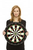 Businesswoman With Dart Board