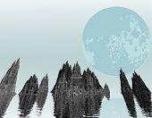 Vector Moonrise