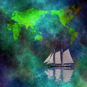 Sailing Ship Map