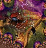 picture of dadaism  - High Resolution 3D Illustration Human Abstract with other elements - JPG