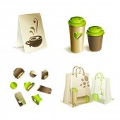 Promotional \ advertising set. Coffee mugs, and packaging.