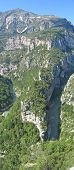 White Provencal Cliffs, Verdon Gorges, Azur Coast, South Of France, Vertical Panorama