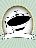 Product Label Silhouette Fantasy Airship Blank