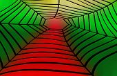 foto of heptagon  - The abstract image an illustration the tunnel  - JPG