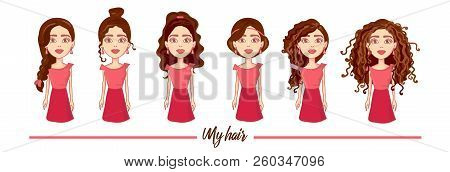 Flat Vector Set Women With