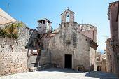 Church and Marco Polo tower - Korcula Town, Croatia