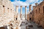 Постер, плакат: Храм Артемиды в Джераше Римская древний город Geraza Иордания