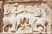 The Investiture of Ardashir firs - Bas-relief from Naqsh-e Rostam, Tomb of Persian Kings, Iran
