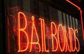 Red Neon Bail Bonds Sign