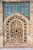 picture of tehran  - Mosaic wall and stone window of Golestan  palace - JPG