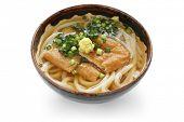 kitsune udon , japanese noodle dish