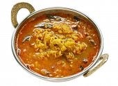 stock photo of tadka  - yellow mung dal curry in kadai - JPG