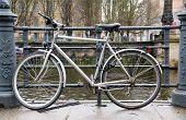 Bicycle On Riverside