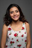 Portrait of a beautiful hispanic teenage girl poster