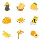 Global Movement Icons Set. Isometric Set Of 9 Global Movement Icons For Web Isolated On White Backgr poster