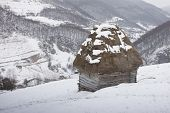 Wooden cottage in Transylvania