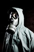 picture of s10  - Man wearing respirator or gas mask - JPG
