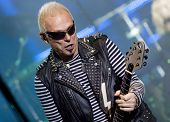 CLUJ NAPOCA, ROMANIA â?? OCTOBER 8: Rudolf Schenker from Scorpions rock band performing at Cluj Aren