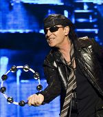 CLUJ NAPOCA, ROMANIA â?? OCTOBER 8: Klaus Meine from Scorpions rock band performs at Cluj Arena Grand Opening concert on October 8, 2011 in Cluj-Napoca, Romania