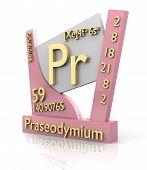 Praseodymium Form Periodic Table Of Elements - V2 poster