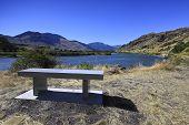 Memorial bench.