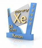 Xenon Form Periodic Table Of Elements - V2