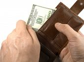 Wallets with dollars