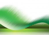 Green halftone background. Vector illustration with space for text or logo