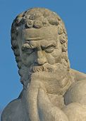 foto of socrates  - Stone sculpture of famous Greek philosopher Socrates - JPG