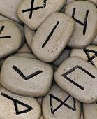 close up of runes