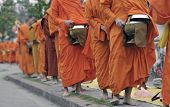 monks in  Loung phabang lao