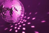 big purple  disco ball